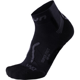 UYN Run Super Fast Chaussettes Homme, black/anthracite